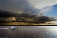 Advection (Bravo_Kilo) Tags: weather clouds grey boat afternoon florida velvia thunderstorm ricoh halifaxriver indianriverlagoon advection ricohcapliogx100 naturewatcher airmassthunderstorm flickrslegend