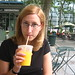 Orange juice in Bryant Park
