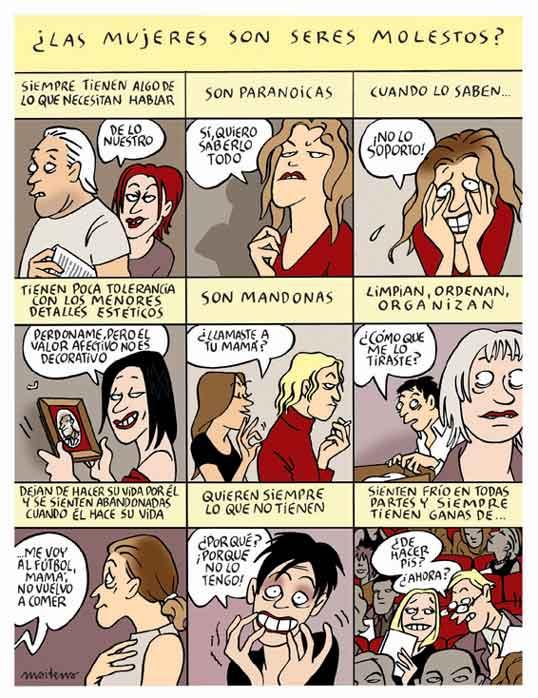 Maitena ¿Las mujeres son seres molestos?