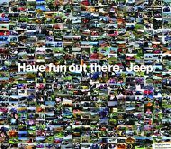 Jeep Newspaper Mosaic