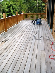 The Deck before staining.