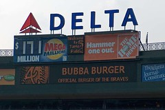 Bubba Burger, Official Burger of the Braves (airnos) Tags: atlanta signs baseball braves turnerfield atlantabraves 2007 diamondbacks arizonadiamondbacks majorleaguebaseball