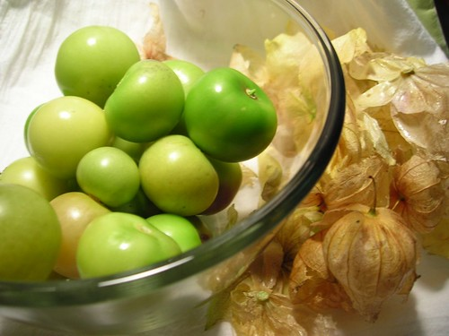 Husked tomatillos