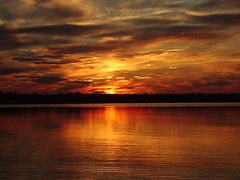 (vansero) Tags: ocean blue sunset red summer orange canada reflection nature water clouds landscape interesting colorful waves bright specnature mywinners abigfave worldbest diamondclassphotographer fickrdiamond naturewatcher