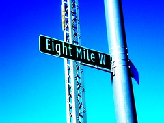 8 Mile Rd in Detroit (DetroitDerek Photography ( ALL RIGHTS RESERVED )) Tags: road street blue sky favorite art sign print cool drawing michigan border detroit creative 8 icon fave popart warhol modified eight mile rd amateurs 2007 eminem southfield 313 damncool smrgsbord motown 8mile artisticexpression dividingline platinumphoto flickrdiamond
