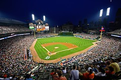 Comerica Park (Mario.Q) Tags: park summer game ford field night lights baseball michigan crowd detroit tigers canonrebelxt scoreboard comerica mlb sigma1020mmf456exdchsm ballparkuwa
