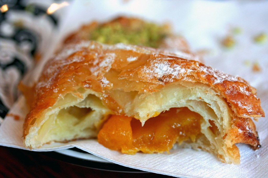 Innards of Apricot Pistachio Croissant