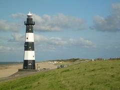 Beach at Groede (Netherlands) (christianstobbe) Tags: sea lighthouse holland beach netherlands strand coast meer zeeland nordsee leuchtturm niederlande kste kueste breskens groede