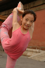 A young gymnast (Rafal Bergman) Tags: china city portrait girl beijing young forbidden gymnast acrobate gymnastic aplusphoto