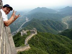 hero on china's great wall (Alieh) Tags: china nature persian iran chinese beijing persia ali hero winner iranian greatwall isfahan  3rdday  chinagreatwall  aliehs alieh