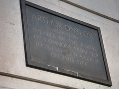 Photo of Arthur Onslow grey plaque