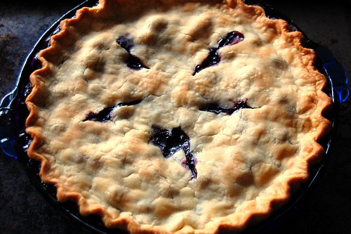 perfect blueberry pie