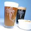 pint_mermaid5 (BreadnBadger) Tags: ocean etched woman sexy cup beer glass engraving nautical mermaid pint glassware tumbler beerglasses etchedglass pintglasses sandblasting sanblasted etchedglassware breadandbadger