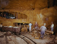 Calico Mine Ride, Knott's Berry Farm, circa 1960 (Orange County Archives) Tags: california history ghosttown amusementpark historical southerncalifornia orangecounty themepark buenapark knotts knottsberryfarm calicomineride calicominetrain orangecountyarchives orangecountyhistory