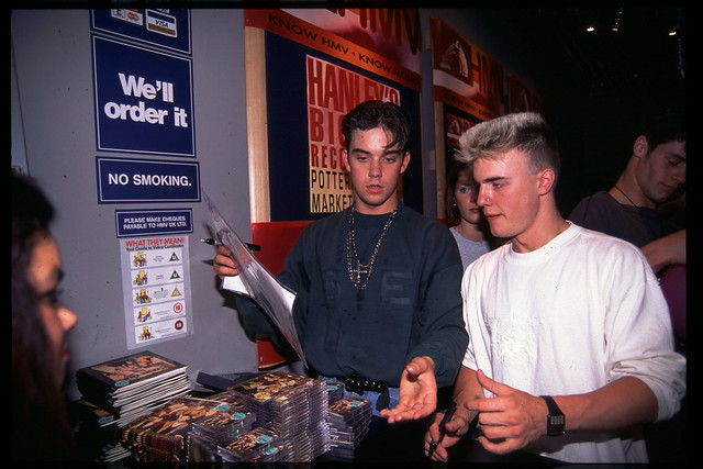 Take That store opening hmv Hanley 28th May 1992 by hmv_getcloser