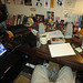 A not atypical look at benjamin's desk while he's drawing