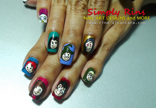 Nail Art Harry Potter Characters 02