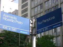 Rua Pamplona x Alameda Ribeirão Preto