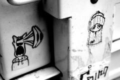 shock eyes a pirate (damonabnormal) Tags: street urban blackandwhite bw graffiti stickerart 33 label graf stickers may labels shock slap 07 2007 slaps stickergraffiti uwp citystickers streetstickers philadelphiastreetart philadelphiagraffiti stickerartists philadelphiaartist