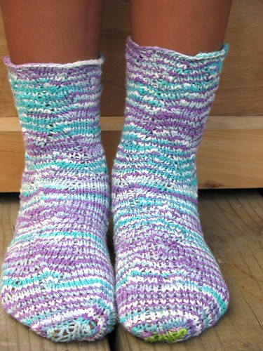 Finished Flame Wave Socks 2