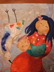 ilustração (Susana Tavares) Tags: baby bird mom pássaro colagem ilustração bébé mãe pintura susanatavares