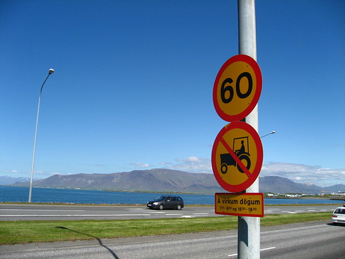 A traffic sign in Reykjavik