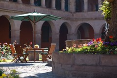 Hotel Monasterio courtyard (Cusco, Peru) - by Luke Redmond