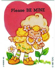 Lemon Valenine (Starshyne09) Tags: flowers heart valentine card 1980s strawberryshortcake lemonmeringue valentinescard