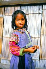 Lisu girl (Linda DV) Tags: travel people cute barn children geotagged thailand kid asia southeastasia child young culture tribal scan kind adventure criana sight tribe ethnic minority siam enfant nio canoscan tribo stam indochine indochina