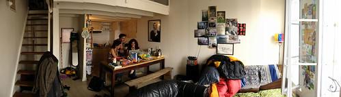 Garston's apartment in La Rochelle, France