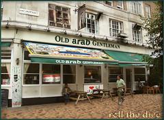 Old Arab`English Gentleman (roll the dice) Tags: london window beer westminster sign photoshop sand pub closed dubai iran muslim islam uae nuts ale smoking arabic crisps arab future w2 gentleman arb moroccan lager edgwareroad syrian marylebone publichouse londonist