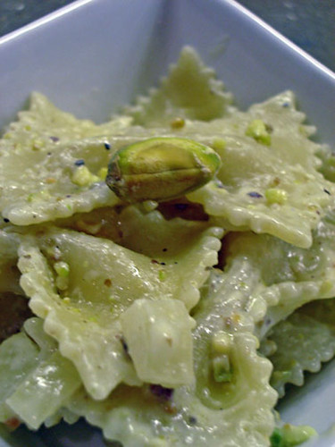Urban Drivel: Farfalle with Pistachio Cream Sauce