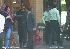 iranian police arrested woman who has not cover her hair or wear a dress that show her body and make male horny heehee (here_is_hell) Tags: democracy iran islam  democrat   zan irani  emam rahbar    azad khamenei    khomeini zendan   eadam     eslami mollah eslam       jslami