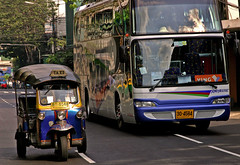 David and Goliath-Bangkok (kinginexile) Tags: thailand asia bangkok streetlife transportation tuktuk itsong–mirrors–southeastasia