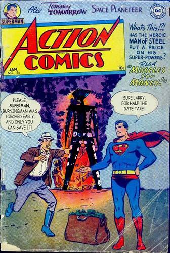 Can Superman Save Burning Man?