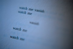 watch me vanish (Lebeg) Tags: book words libro parole sarahkane 448psychosis lebeg pisasocialevent