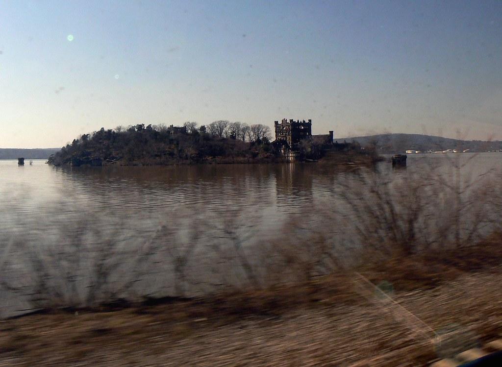 Bannerman Castle - taken from a moving train