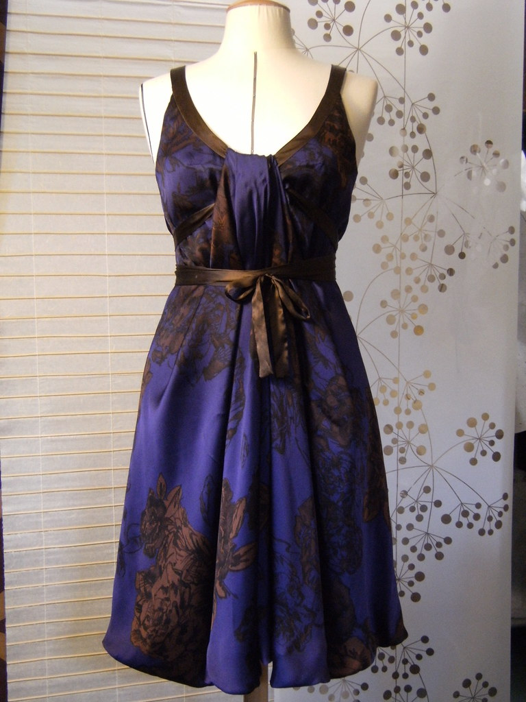 Watercolor silk dress