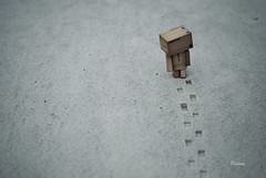 I'm walking away... (Kelvin ) Tags: amazon footprints walkingaway danbo revoltech  danboard minidanbo amazondanbo