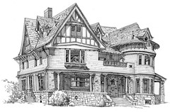 story mansion (paul heaston) Tags: urban art architecture pen ink artwork drawing sketching