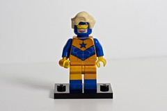Booster Gold (levork) Tags: gold dc lego minifig booster cfc2010 creationsforcharity2010
