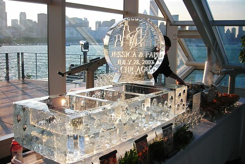 Gelato Station Custom design Chicago ice sculpture