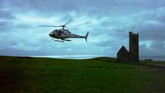 helicopter ride off Lundy