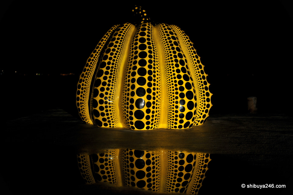 Pumpkin at night