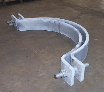 "66"" Diameter, Three-bolt Pipe Clamp"