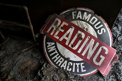 Famous Reading Anthracite (Desolate Places) Tags: abandoned sign pennsylvania north east coal region breaker anthracite coalcountry