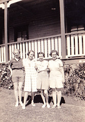 Grandma (far left) & friends, Terrigal 1938