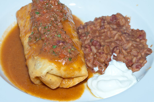 Shredded Pork Chimichanga