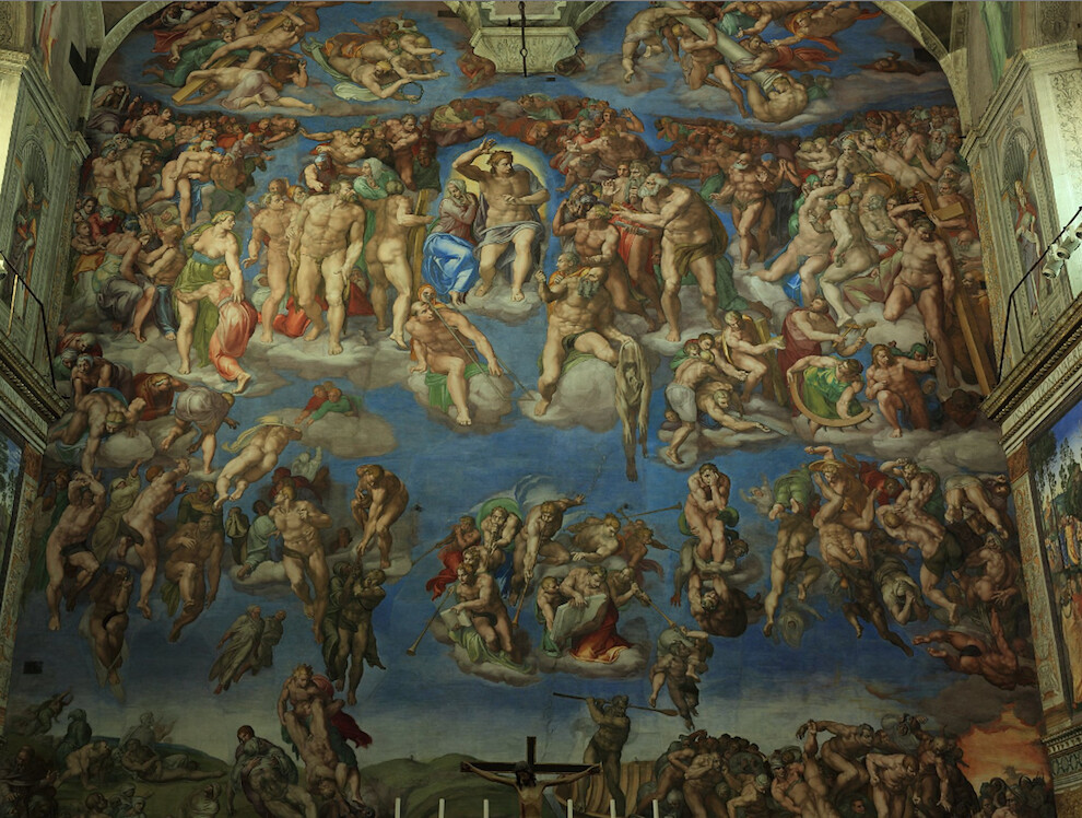 Cistine Chapel rear wall - The Last Judgement
