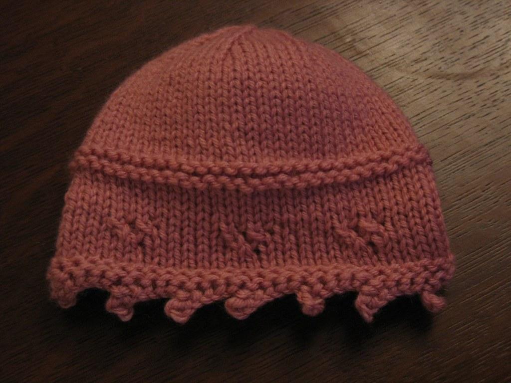 Eyelet baby hat